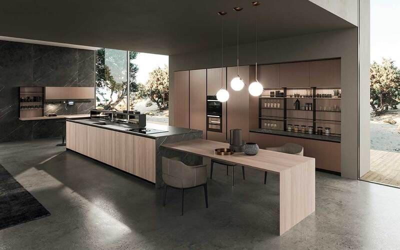 cocina-minimalista-isla-diseno-italiano
